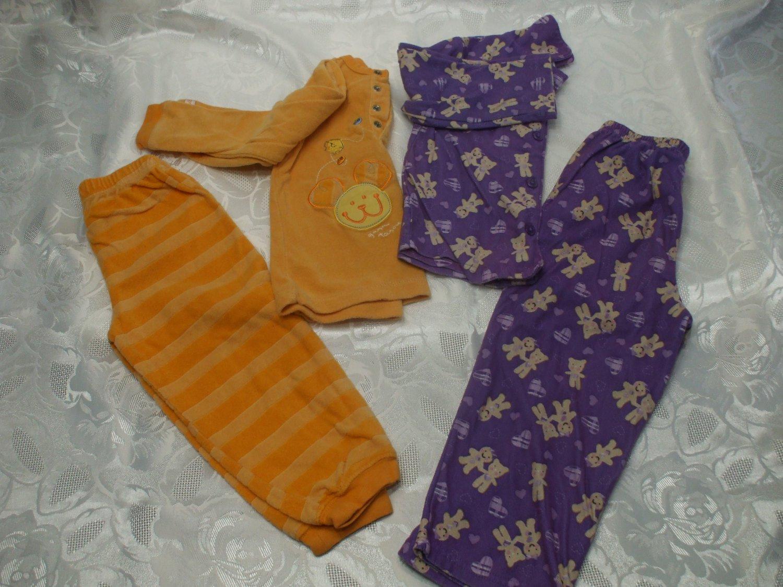 Lot of 2 Girls Pyjamas Size 3 & 3T