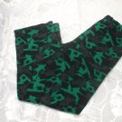 Boys Back And Green PJ Bottoms M 10/12 Years