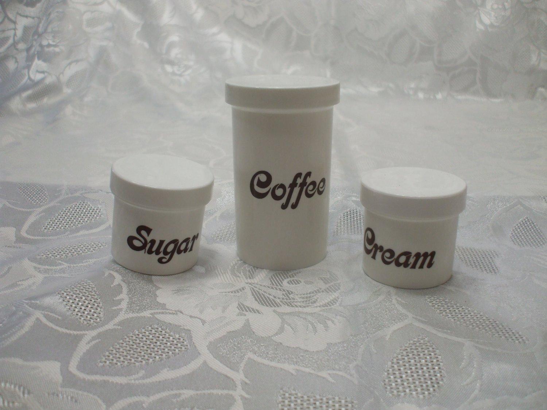 3 Pc Picnic Coffee Sugar And Cream Containers
