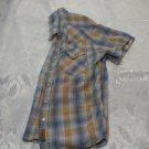 Toddlers Orange Blue Short Sleeve Shirt 4-5 Years Old