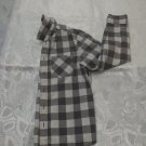 Gray and White Checkered Long Sleeve shirt 9-10 yrs old