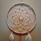 "6"" Red Beaded Dreamcatcher"