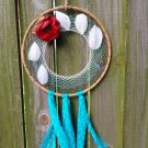 "10"" Feather and Rose Dreamcatcher"