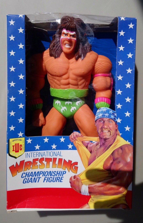 "wwf ljn hasbro wrestling superstars 10"" ultimate warrior wrestling figure"
