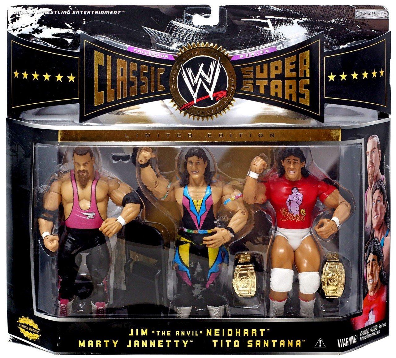 Wwe/wwf Ljn Hasbro Classic Superstars 3 Pack Jim Neidhart