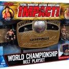 wwe tna wwf ljn classic superstars world championship belt playset aj styles & jeff jarrett figures