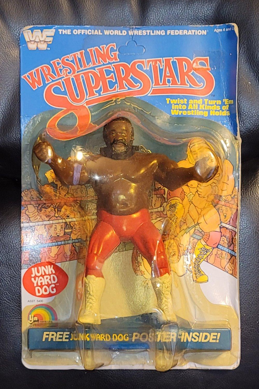 wwf ljn wrestling superstars damaged junk yard dog grey chain wrestling figure