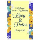 Floral Yellow and Blue Wedding Welcome to our Wedding Poster