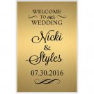 Custom Personazlied Welcome to our Wedding Seating Sign