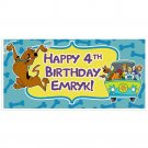 Personalized Scooby Doo Birthday Banner Personalized Party Backdrop