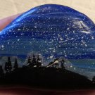 "Hand Painted Art Rock ""Starry Night"" Design"