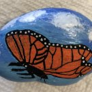 "Hand Painted Art Rock ""Butterfly"" Design"