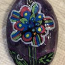 "Hand Painted Art Rock ""Design Flower"" Design"