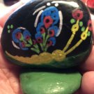 "Hand Painted Art Rock ""Dragonfly"" Design"