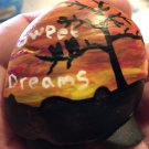 "Hand Painted Art Rock ""Sweet Dreams"" Design"