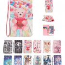 NEW 3D Drawing PU Leather Wallet & Hand Rope Cover Case for Apple iPod Touch 5