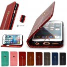 Magnetic Wallet Case Premium PU Leather Kickstand Cover for iPhone 5 S 6 7 Plus