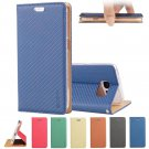 Magnetic Braid PU Leather Card Slot Folio Stand Case Cover for Samsung S6 Edge