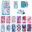 Leather Pattern Wallet & Hand Rope Cases for iPhone iPod Touch 5 S 6 7 SE Plus