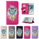 OWL Pattern PU Leather Wallet Stand Case Cover For iPhone X 5 5S SE 6 S 7 8 Plus