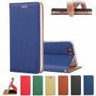 Magnetic Braid Retro Leather Card Slot Folio Stand Case Cover for Huawei P10