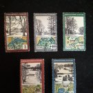 5 postage stamps of DDR