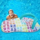 Air Mattress Beach Toy Water Sport Inflatable Alphabet Flip Flop Swimming Pool