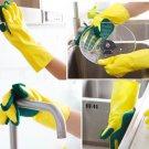 1 Pair Dish Washing Cleaning Gloves Home Garden Kitchen Sponge Fingers Rubber