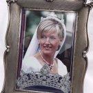 vintage decorative sterling silver 800  picture frame