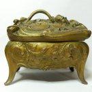 antique  Art nouveau composition metal  Jewelry box