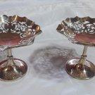 Pair Silver plate - Mappin & Webb bon bon Dishes