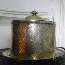 antique silverplate Tea pot cockie pot  . England mark M R A