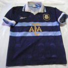 vintage soccer   jersey blue  Argentina Adidas Size Boy women  2001