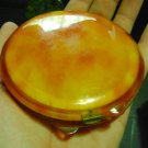 vintage powder compacts tortoiseshell colour simil. 10 cm diameter.