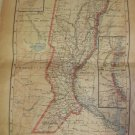 Map of Santa Fe province. Argentina   Peuser Year 1940 approx