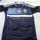 vintage soccer   jersey blue  Argentina Adidas Size Boy women  2011 -12