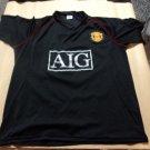 old fantasy retro Black soccer camiseta Jersey Manchester united 2008