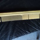 vintage comb, yellow enamelled
