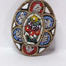 vintage micro mosaic Brooch Italy