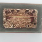 old Chinese carved wood fragment, hand painted ,back stamp