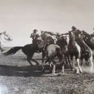 vintage old Photo by Fred hendrickson film, cowboy playing El pato in Argentina
