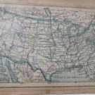Map United States In French print 1926 engraving  Consult Stock
