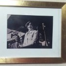 vintage framed Photo Eva Peron -Evita - president Argentine . newspaper Critica.