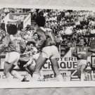 vintage Old Photograph Goal Higuain RIver Plate VS SAn Lorenzo , Argentina 1988