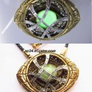 Dr Doctor STRANGE Eye of Agamotto Infinity Amulet Fluorescent GLOW Necklace Time Stone