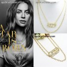 Movie A Star Is Born Lady GAGA Ally Pendant Necklace Bradley Cooper Oscars Props Cosplay