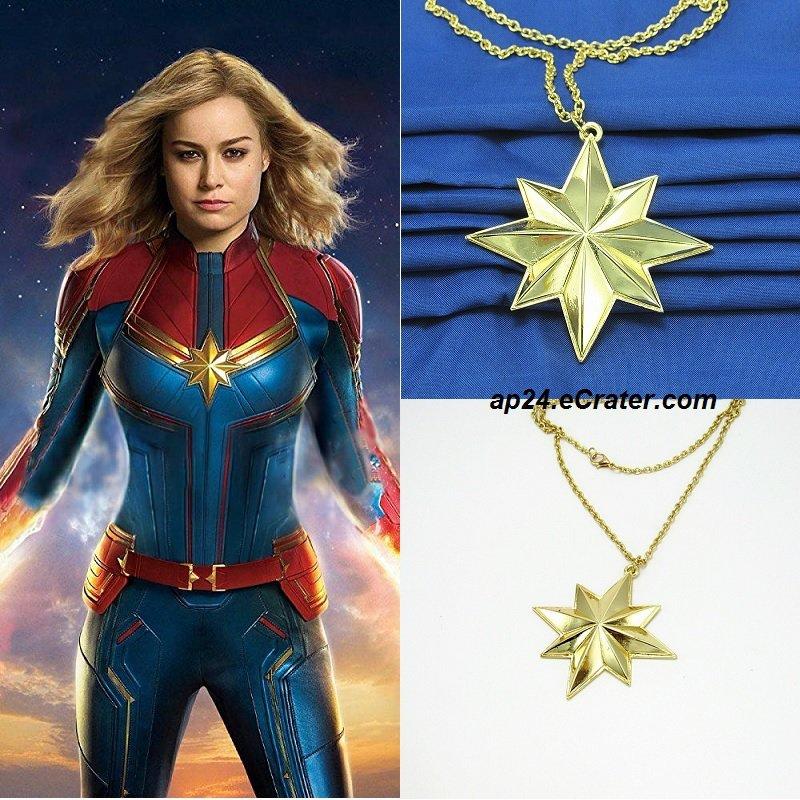 2019 Captain Marvel Star Necklace Brie Larson Pendant Charm Props Cosplay Avengers Endgame