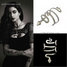 ShadowHunters ISABELLE Lightwood Silver Serpent SNAKE Bracelet Bangle Props Cosplay