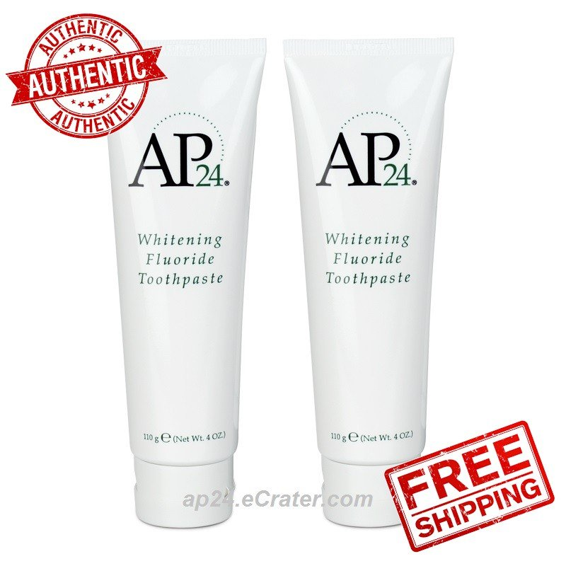 2X Nu Skin AP24 NuSkin Ap-24 Whitening Fluoride Toothpaste AUTHENTIC Anti Plaque 110g 4oz Exp 2022