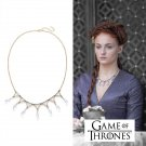 Game of Thrones Sansa Stark Poison Wedding Purple Crystal Necklace Props Cosplay Handmade